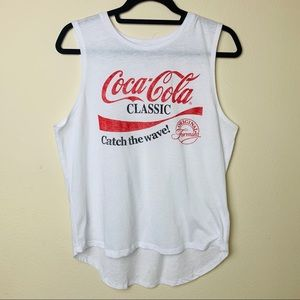 """NWOT COCA COLA classic """"catch the wave"""" tank"""